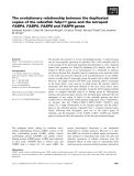 Báo cáo khoa học: The evolutionary relationship between the duplicated copies of the zebrafish fabp11 gene and the tetrapod FABP4, FABP5, FABP8 and FABP9 genes