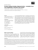 Báo cáo khoa học: Protein folding includes oligomerization – examples from the endoplasmic reticulum and cytosol