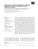 Báo cáo khoa học: The secretory omega-class glutathione transferase OvGST3 from the human pathogenic parasite Onchocerca volvulus