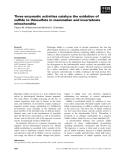 Báo cáo khoa học: Three enzymatic activities catalyze the oxidation of sulfide to thiosulfate in mammalian and invertebrate mitochondria