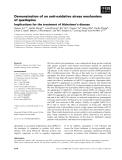 Báo cáo khoa học: Demonstration of an anti-oxidative stress mechanism of quetiapine
