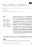 Báo cáo khoa học: Compartmentalization and in vivo insulin-induced translocation of the insulin-signaling inhibitor Grb14 in rat liver