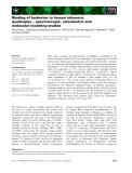 Báo cáo khoa học: Binding of berberine to human telomeric quadruplex – spectroscopic, calorimetric and molecular modeling studies