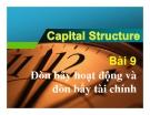 Bài 9: Đòn bẩy hoạt động và đòn bẩy tài chính