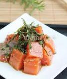Tuyệt ngon món cá hồi tẩm gia vị kiểu Christine Hà