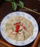 Thịt luộc trộn lá chanh làm nhanh ăn ngon