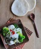 Giòn ngon món mực trộn bông cải xanh
