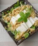 Salad đậu phụ cho ngày ăn chay