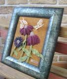 Bức tranh hoa 3D mộc mạc làm từ vải dạ
