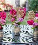 5 bước cắm hoa độc đáo với vỏ lon và dây thừng