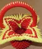 Trổ tài khéo tay làm giỏ Origami cực xinh