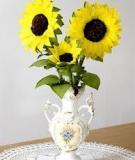 Chút nắng ngày đông với hoa hướng dương bằng giấy
