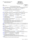 Đề kiểm tra môn vật lý 12 -Mã đề thi 153