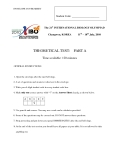 Tài liệu về Đề thi  INTERNATIONAL BIOLOGY OLYMPIAD lần thứ 21