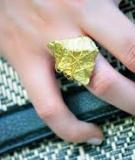 Tự chế chiếc nhẫn vàng nguyên khối thật cá tính