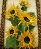 Tranh giấy xoắn hoa hướng dương rực rỡ