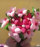 Bó hoa xinh yêu từ giấy nhún
