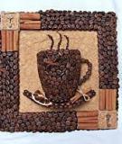 Thơm ngát bức tranh tách cà phê 3D