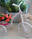 Khéo tay làm chiếc xe đạp chở hoa xinh xắn