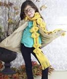 Làm điệu cho bé với khăn len nơ bướm cực xinh