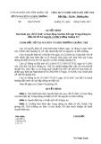 Quyết định ban hành quy chế tổ chức và hoạt động của Ban biên tập Trang thông tin điện tử Sở Tài nguyên và Môi trường Quảng Trị