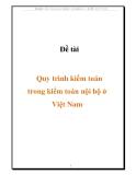 Đề tài quy trình kiểm toán trong kiểm toán nội bộ ở Việt Nam