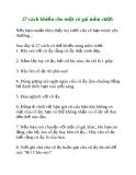 27 cách khiến cho một cô gái mỉm cười