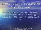 Đề tài: Trao đổi về phát triển kinh tế biển ở Việt Nam