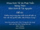 """Đề tài: """"Điểm sáng trong phát triển kinh tế biển và bảo vệ chủ quyền biển, đảo ở Kiên Giang""""."""