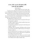CUNG, CẦU VÀ GIÁ CẢ TRONG NỀN KINH TẾ THỊ TRƯỜNG
