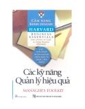 Cẩm nang Kinh doanh Harvard (Harvard business essentials): Các kỹ năng quản lý hiệu quả (Manager's toolkit)