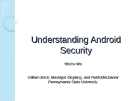 Understanding Android Security