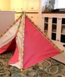 Tự may lều vải cho bé chơi thỏa thích