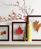 Khung tranh lá mùa thu trang trí nhà