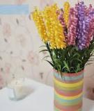 Chào mùa thu với bình hoa giấy rực rỡ
