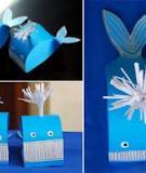 Cắt dán cá voi làm đồ chơi cực xinh cho bé
