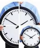 Quản lý thời gian để làm việc hiệu quả hơn