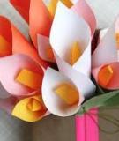 Trang trí hộp quà siêu tốc với hoa giấy đơn giản
