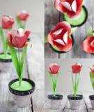 Làm hoa tulip giấy xinh xắn trang trí nhà mình
