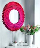 Trang trí gương hình hoa cúc xanh tuyệt đẹp