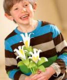 Hướng dẫn bé tự làm hoa loa kèn giấy dễ dàng