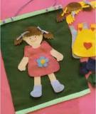 Mẹ làm bộ đồ chơi thời trang từ vải dạ cho bé