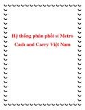Hệ thống phân phối sỉ Metro Cash and Carry Việt Nam
