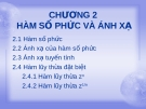 CHƯƠNG 2 HÀM SỐ PHỨC VÀ ÁNH XẠ