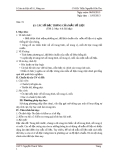 GIÁO ÁN ;CÁC SỐ ĐẶC TRƯNG CỦA MẪU SỐ LIỆU - ĐẠI SỐ 10 NÂNG CAO