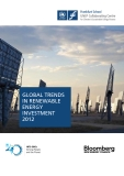 GLOBAL TRENDS IN RENEWABLE ENERGY INVESTMENT 2012