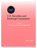 U.S. Securities and Exchange Commission In Brief FY 2013 Congressional Justification