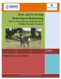 New and Evolving Web-based Marketing – How to Find a Market Outlet for your Wildlife Friendly Products