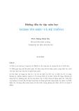 Hướng dẫn ôn tập môn học EE2000 TÍN HIỆU VÀ HỆ THỐNG