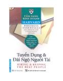 Cẩm nang Kinh doanh Harvard (Harvard business essentials): Tuyển dụng và đãi ngộ người tài